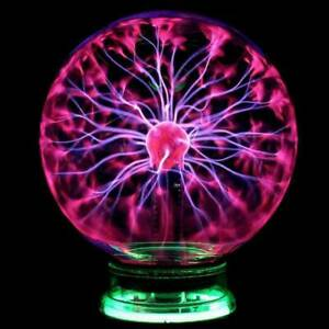 US Glass Magic Plasma Ball Light Large Table Lights Sphere Night Lamp Touch Toys