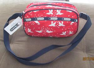 LeSportsac 3255 Parker Crossbody Bag Love Birds RED NWT