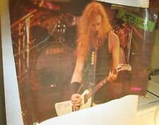 METALLICA SKID ROW POSTER ROCK  1990'S COLLECTABLE DISPLAY VINTAGE DOUBLE SIDED