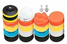 Aobetak Lot de 22 tampons de polissage en éponge pour carrosserie avec adaptateu