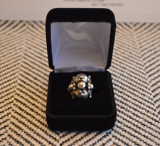 Vintage Marked Mexico Silver Tone Ball Design Ring