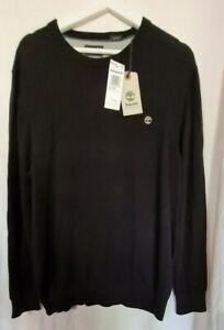 (CRD) Timberland- Men's New-100% Organic Cotton Jumper In XL- Black