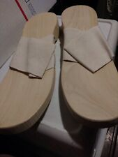 Vintage Reece Sundip Wood Sandals Shoes Ww2 Era protect your feet Large