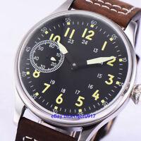 Vintage 44mm Men's Hand Winding 6497 Movement Parnis Watch Luminous Dial