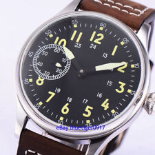 Vintage 44mm Men's Hand Winding 6497 Movement Parnis Watch Luminous Dial