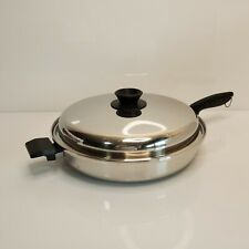 """Vintage Multi Core Family Skillet & Lid 12"""" West Bend 5-Ply Stainless Steel USA"""