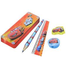 Schreibset Disney Pixar Cars Bleistift Radiergummi Anspitzer Bleistiftbox Lineal