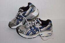 ASICS GT 2130 Running Shoes, White/Blue/Grey, Youth US Size 1Y
