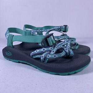 Chaco Women's Sport Water Sandals Double 2 Strap Teal/Purple Size US 9 *NEW*