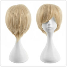 Sanji Short Wig Gold Blonde Straight Anime Cosplay Men's Wigs