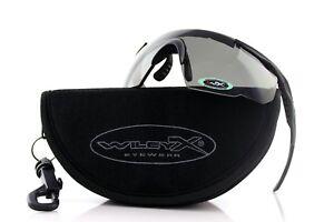 WILEY X SABER ADVANCED Matte Black Grey Rust Vermillion 3 Lens SUNGLASSES 309RX
