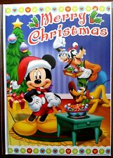 "H11) Carte Disney ""Merry Christmas"" Mickey (sapin) + enveloppe - Neuf"