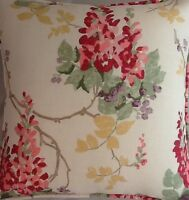A 16 Inch Cushion Cover In Laura Ashley Wisteria Cranberry Fabric