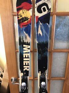 Meier Quickdraw Skis, 2020 Model, 176 cm, Look Demo Bindings, Very Good