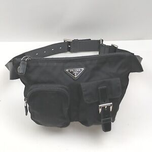 Prada Waist Pouch Bag  Black Nylon 2401193