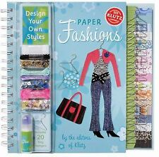 Klutz Design Your Own Styles w/ Paper Fashions Book & Kit ~ (2006 Hardback) NEW