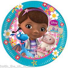 Doc mcstuffins filles fête d'anniversaire fournitures vaisselle petit 20cm plaques x8
