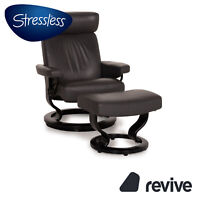 Stressless Orion Leder Sessel Anthrazit inkl. Hocker Relaxfunktion