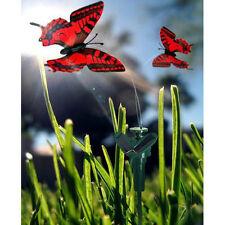 HQRP Mariposas dobles solares rotativas volantes rojas para plantas exteriores