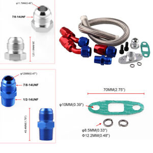 Oil Feed Line Return Drain Line For Turbo Charger T3 T4  T04E T70 T60 T61 Solid