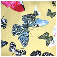 100% Craft Crafting Sewing Cotton Polycotton Patchwork Butterfly Metre Fabric