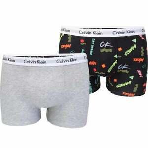 Jungen 2 Pack moderne Baumwolle Boxer Trunk, Calvin Spiele schwarz/Heather grau