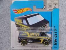 Hot Wheels 2014 # 049/250 Súper Furgoneta Azul Metálico SWAT Camión HW CIUDAD