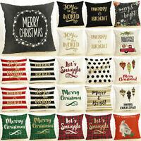 """18"""" Linen Decorative Pillow Christmas Cushion Cover Pillowslip Home Decor"""