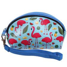 FLAMINGO Tropical Fruits Palm Leafs MINI make up bag/borsa cosmetici Rockabilly
