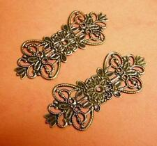 8pc lead nickel free antique bronze filigree wrap-2451