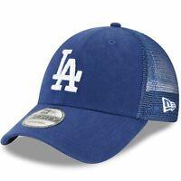Los Angeles Dodgers New Era 9Forty Blue Trucker Mesh Adjustable Hat Cap