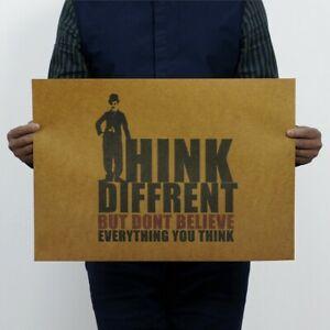 "Drink Diffrent Vintage Motivational Poster Home Bar Art Wall Decor 20""x14"""