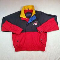 VTG 90's Bryant Racing Indy Car Swingster Full Zip Jacket Red / Black, Men Sz M