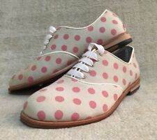 Women Zuriick Laverne Pink Polka Dot Oxford Shoes Leather Sole Size 7.5 NO BOX