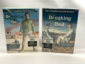 Breaking Bad Complete First & Second Season 1 & 2 DVD Sets New Sealed