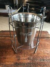 Coca-Cola Champagne & Wine Bucket with Stand - Stainless Steel Ice Bucket - Bar