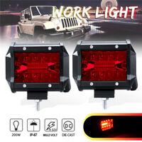 2X 4'' LED Arbeitscheinwerfer Strahler Flutlicht Nebelscheinwerfer Offroad Lkw