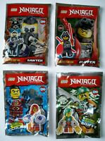 4 Lego Ninjago Figuren Sawyer Clouse Squiffy Buffer Schurken Ninja Waffen Figur