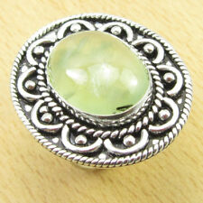 Gifts For Grandfather !! 925 Silver Overlay PREHNITE Ring Size K NEW