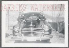 Vintage Car Photo Sailor Boys w/ 1946 1947 1948 Plymouth Automobile 722444