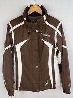 Spyder XT.L Women Jacket Skiing Snow Sport Waterproof Brown size S / M UK10