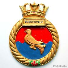 HMCS Sussexvale - Canadian Navy Maritime Ship Metal Tampion Plaque Badge Crest