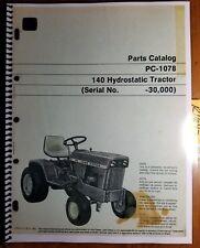 John Deere 140 Hydrostatic Tractor S/N -30000 Parts Catalog Manual Pc-1078 3/71