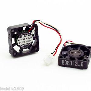 1pc SEPA MF15B-05LA 15x15x5mm 1505 5V 0.03A Small Mini Micro Server Cooling Fan