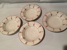 Noritake China Rosalie 3052 Fruit/Dessert Bowls Pink Roses Set Of 4