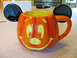 Vintage Disney Happy Halloween Mickey Mouse Pumpkin Coffee Mug Cup