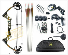 TOPOINT M1 15-70LB COMPOUND BOW & ARROW HUNTING TARGET ARCHERY FOREST CAMO