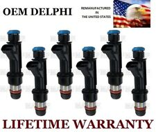 Genuine Delphi Set Of 6 Fuel injectors For Buick GMC Isuzu Chevy Oldsmobile 4.2L