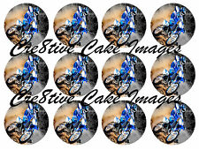 "12 YAMAHA YZ250F TRAIL BIKE ""REAL EDIBLE ICING"" CUPCAKE PARTY TOPPER IMAGES"