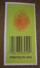 "EMEK Handbill Print SOCIAL SYSTEM Bar Code 12"" like poster art"